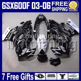 Wholesale Suzuki Gsxf Fairings - 7gifts CORONA For SUZUKI KATANA 2003 2004 2005 2006 GSXF600 03-06 GSX600F GSXF 600 Black white 03 04 05 06 HR1301 GSX 600F 2003-2006 Fairing