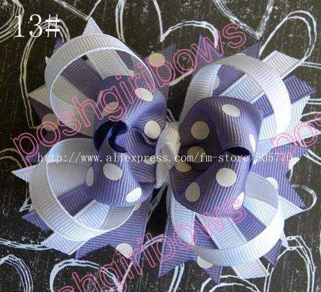 free shipping 35 pcs 4.5'' small funky bows baby hair clips fashion boutique hair bow clips