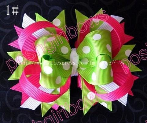 4.5'' small funky bows baby hair clips fashion boutique hair bow clips