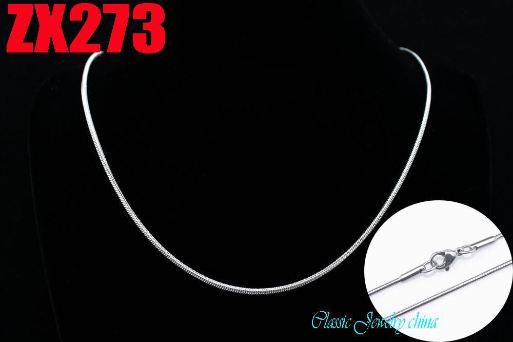 Aanbevelen Hot Koop 2mm Rvs Snake Chain Kettingen 16 '' / 18 '' / 20 '' - 34inch 20 stks Dames Vrouwelijke Dame Mode Geschenken Ketting ZX273