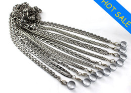Wholesale Necklace Sling - New EGO Metal Lanyards E Cig Necklace with Metal Sling 10 Styles Chains Hang Rope Sling with Steel Ring for EGO Necklace