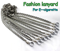 Wholesale Metal Necklace Chain Lanyard - E Cigarettes Metal Lanyards with Metal Sling Electronic Cigarettes 10 Styles Chains Lanyard Keychain Necklace