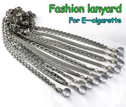 Wholesale E Cigarettes Necklaces - E Cigarettes Metal Lanyards with Metal Sling Electronic Cigarettes 10 Styles Chains Lanyard Keychain Necklace