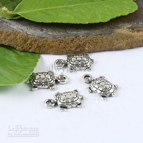 bonito tartaruga de prata Tibetano encantos descobertas H1244
