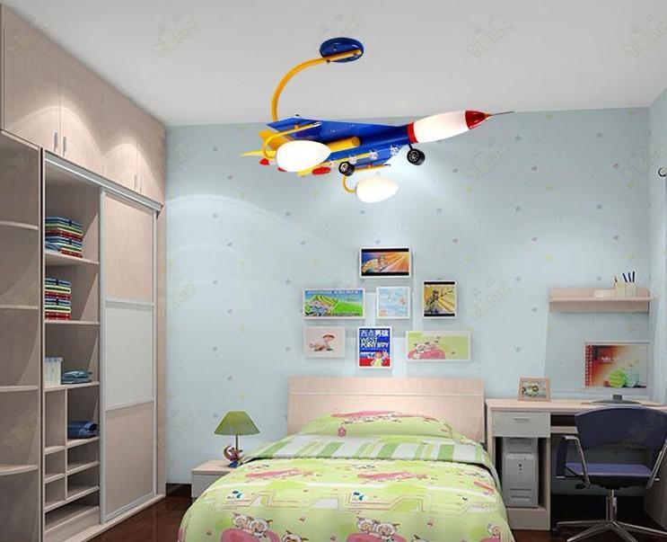 Best Verkopen Kinderkamer Lamp / Plafondlamp Licht / Vliegtuigen Kinderen Slaapkamer Lamp Verlichting Creative Children's Cartoon Lamp