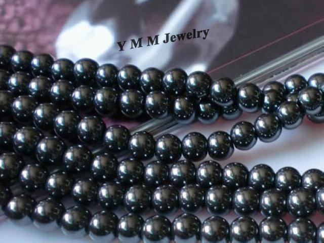 Fashion Hematite Beads 8mm Round Loose Beads For Bracelet DIY Accessory Wholesale