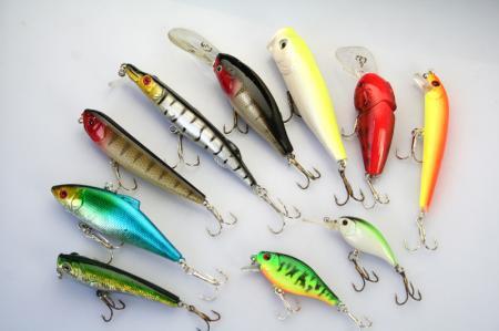 Geassorteerde vissen lokt Crankbait Minnow Hooks