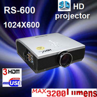 Wholesale Dual Rs - TEST 3D HD Projector   Native 1024*600 2100 lumens   With HDMI interface   RS-600