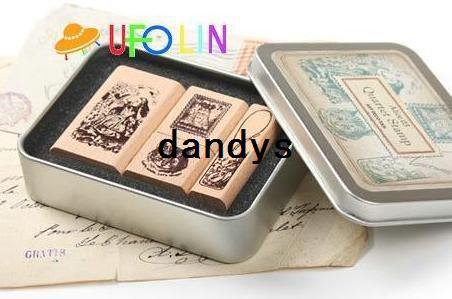 top popular Free Shipping New vintage Alice doll stamp sets Iron Box multi-purpose Decorative DIY funny work stamp 2021