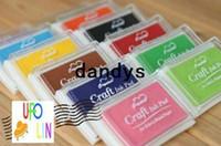Wholesale inking pad resale online - Nice color big craft Ink pad Ink stamp pad Inkpad set for DIY funny work