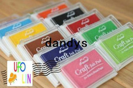 Wholesale Big Stamp Pad - Free Shipping Nice color big craft Ink pad Ink stamp pad Inkpad set for DIY funny work Wholesale
