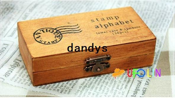 top popular Free Shipping 30 pcs set Creative uppercase lowercase wooden stamp set   gift wooden box, 8 sets lot 2021