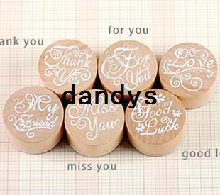 best selling Free Shipping   New sweet best wish wood round stamp   gift stamp   6 designs