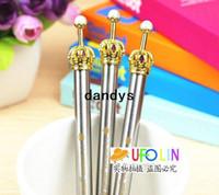 Wholesale Korean Crown Pen - Vintage style classical metal crown ball pen   Korean Style Princess Ball Pen  Free shipping