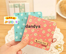 Wholesale Sticky Note Book - Natural flower sticky note  memo   Note pads   message post   scratch writing book   Wholesale Freeshipping