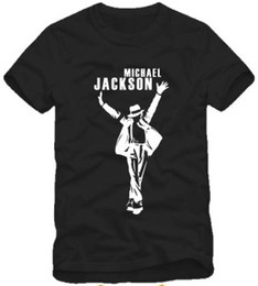 Wholesale Kids Shirts Sale - Free shipping Retail Tee hot sale kids t shirt dance t shirt fashion Michael Jackson with hat printed mj t shirt for children 100% cotton