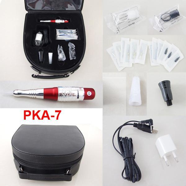 Permanente make-up kits cosmetische tatoeage-aanbod inclusief wenkbrauw machine naalden tips case pka