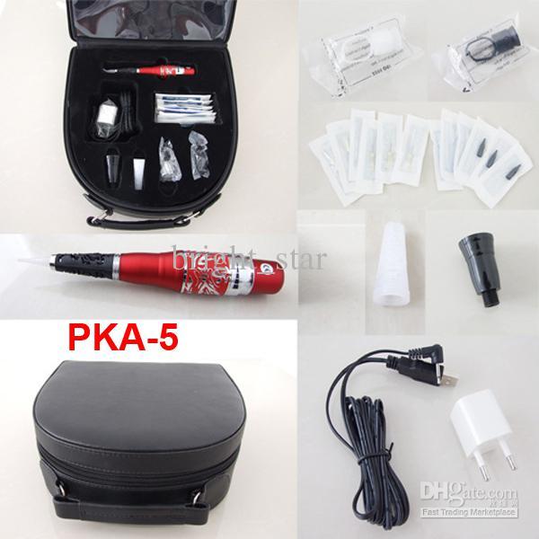 Kits de Maquiagem permanente Cosméticos Tattooing Abastecimento Incluindo Sobrancelha Máquina Agulhas Dicas Caso PKA