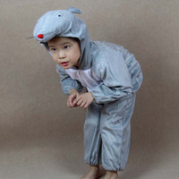 Wholesale Mouse Carnival Clothes - Grey Mouse Costumes Halloween Party Ideas Children Animal Lint Perform Clothing Cosplay Apparel Theme Costume Carnival Party Supplies Gift