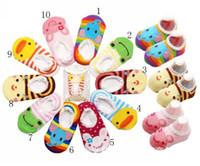 Wholesale baby sock shoe wholesale online - Baby Boat Socks Children s Shoes Antiskid Non slip Bottom Cartoon cm kids toddle socks pair l free sihpping