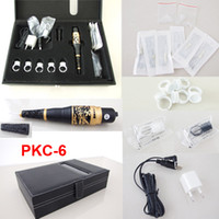Wholesale Tattoo Machines Cases - Permanent Makeup Kits Cosmetic Tattooing Supply Including Eyebrow Machine Needles Tips Rectangle Case PKC