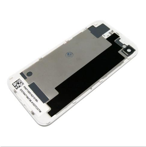 Back Glass Battery Housing Door Back Cover Replacement Part with Flash Diffuser For iPhone 4 4S 4g White / Black Color