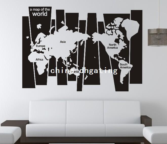 0829 version map of the world family office vinyl wall art room 0829 version map of the world family office vinyl wall art room decor gift stickers world maps home decorations wall art stickers quotes wall art stickers gumiabroncs Images