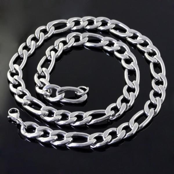 11mm 127g Lucidatura a specchio in acciaio inossidabile figaro catena 23.6 '' collana 9 '' bracciale, set di gioielli da uomo di moda