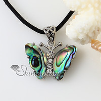 Wholesale Butterflies Jewellery - butterfly rainbow abalone seashell mother of pearl oyster sea shell white oyster shell necklaces pendants Fashion jewellery Mop2045cy0