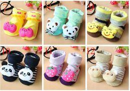 Wholesale solid dolls - Wholesale baby solid socks   Baby Doll socks   non-slip floor socks 20 pairs l