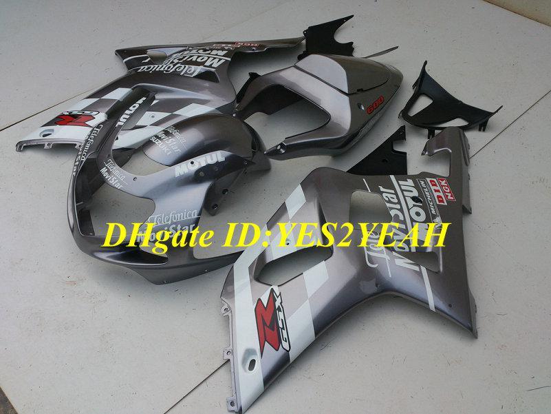 Kit carenatura SUZUKI GSXR600 750 2001 2002 2003 GSXR 600 GSXR750 K1 01 02 03 Carrozzeria GSXR 750 nero argento Carenature SY23
