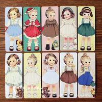 Wholesale Doll Bookmarks - Free Shipping Creative kawaii doll Bookmark set 30 sheets per set Cartoon Book marks