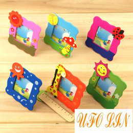 Wholesale Baby Photo Frame Cartoon - Free shipping cute wooden cartoon children's photo frame cartoon frame baby frame Wholesale