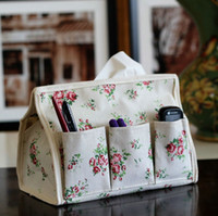 Wholesale Fabrics Tissues Free Shipping - Free Shipping   Vintage spring flowers fabric life quality Tissue Box   tissue box hanger   tissue extraction  Table Decoration
