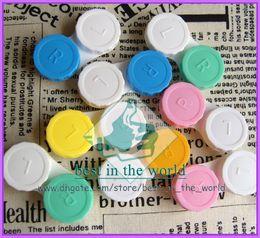 Wholesale Color Soak - [50 pairs lot] FREE SHIPPING Contact Lens Case Soaking Box Random Color