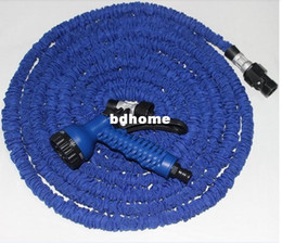 Hose 75ft Canada - 1pcs lot X Expandable Hose 75FT Garden water Hose expandable flexible hose Garden hose+ Spary Gun