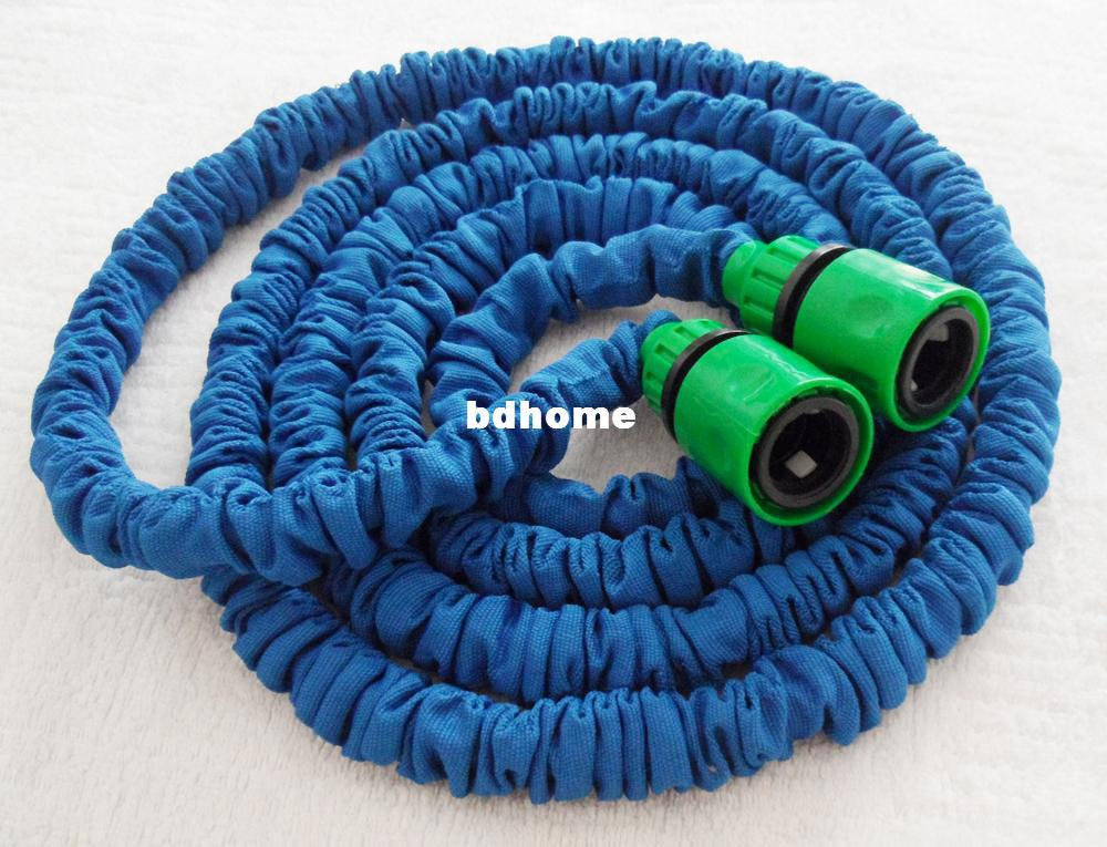 Free Shipping 25ft x Garden water expandable hose green fast connector expanding hose