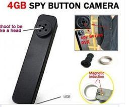 Wholesale Hd Secret Camera - Tiny Hidden Spy Button Camera DVR HD 640P AVI Audio Mic 30 FPS Secret Mini Camcorder Wireless Video Recorder 4GB MP-900 2013 Hot Sale