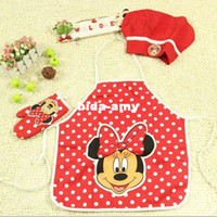 oven mitt apron - High quality Kids apron chef hat and oven mitt customised order is available