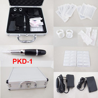 Wholesale Cosmetic Tattoo Machine Kits - High Quality Permanent Makeup Kits Cosmetic Tattooing Supply Including Eyebrow Machine Footswitch Needles Tips Case PKD