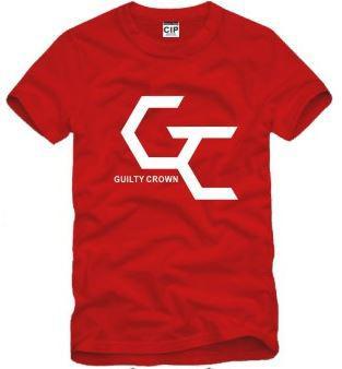 Envío gratis tamaño chino S - XXXL camiseta de algodón anime culpable corona logotipo impreso camiseta tops camiseta para unisex 100% algodón 6 color