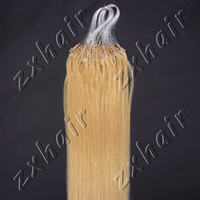"""Wholesale Golden Ring 18 - Wholesale - 100S 16"""" - 26"""" Micro rings loop hair remy Human Hair Extensions #24 golden blonde"""