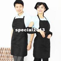 Wholesale Apron Waiter Waitress - Chefs Catering Bar Plain Apron Waiter Waitress Butcher Bib Kitchen Cooking Craft[010426]