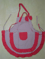 Wholesale Mommy amp Me Red Polka cotton Apron Set Adult amp Child Kid s Aprons