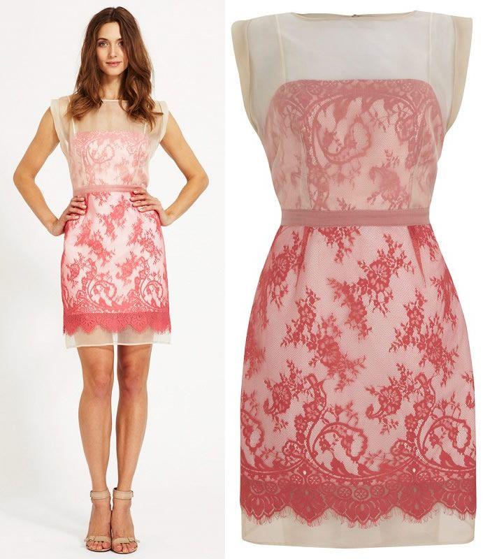 2013 Elegant Women Mint Velvet Flamingo Lace Organza Evening Party ...