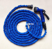 Wholesale watering hose free shipping online - ft Water Hose with one Sprayer expanding expandable hose