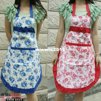 Wholesale The the fashion cute princess apron pastoral style Korean home service kitchen aprons