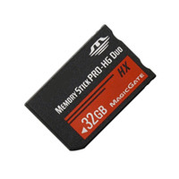 Wholesale Pro Stick Duo 32gb - New 32GB Ms Stick Pro-HG Duo HX Memory Card Magic Gate For PSP Game Player Camera Camcorder Phone 5pcs L