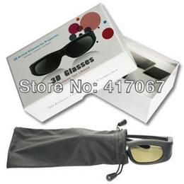 Dlp proiettore marche online-Nuovi occhiali 3D Active Shutter DLP Link per tutti i proiettori DLP Link 3D