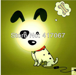 Wholesale Dog Wall Lamp - DIY Wall 3D sticker Lamp 3 Cute design Dog Pig Flower lamps for Children Room Decoration